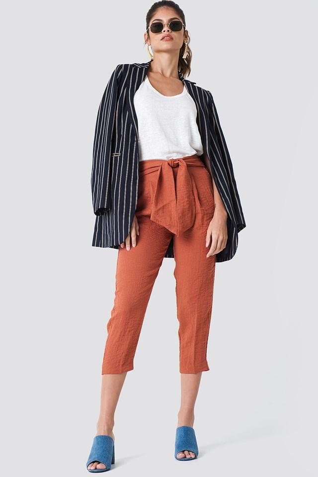 Bow Belt Trousers Rust/Copper