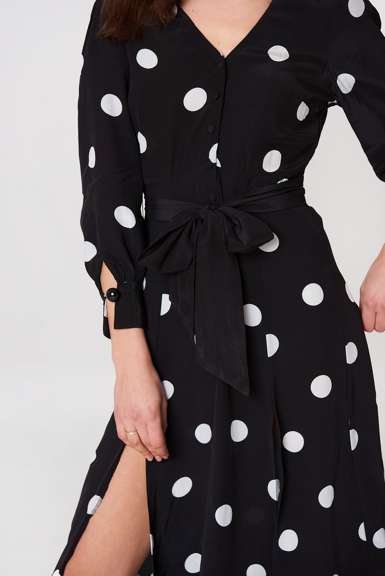 Bow Polka-Dot Dress NA-KD.COM