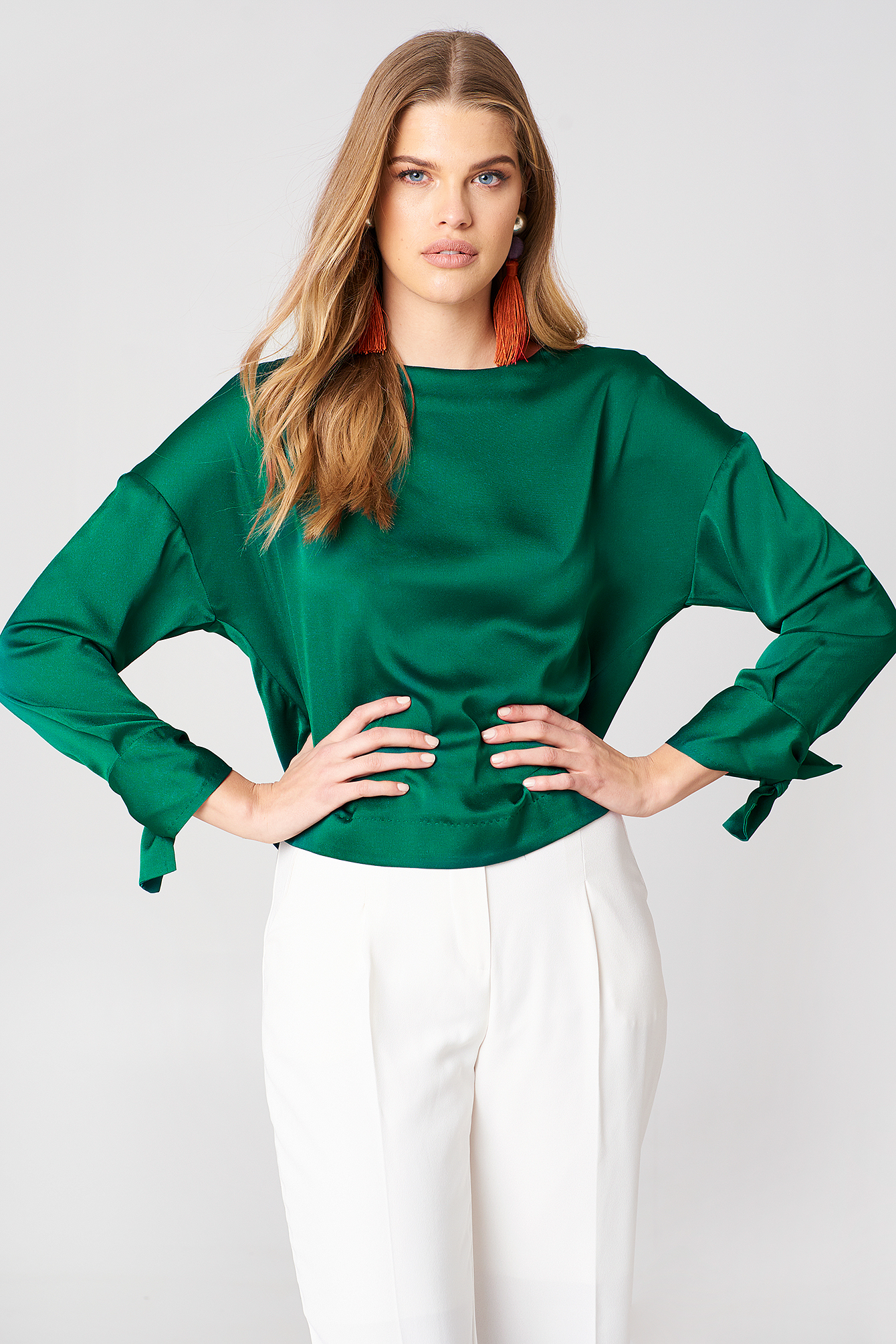 Bow Sleeve Blouse NA-KD.COM