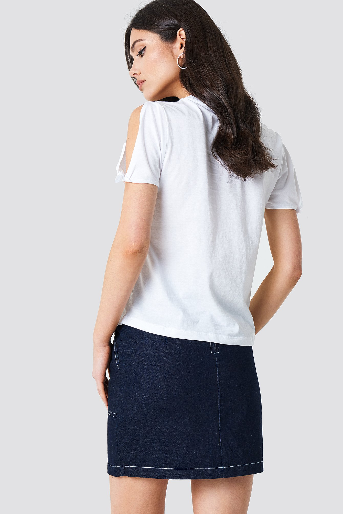 White Bows Sleeve T-Shirt