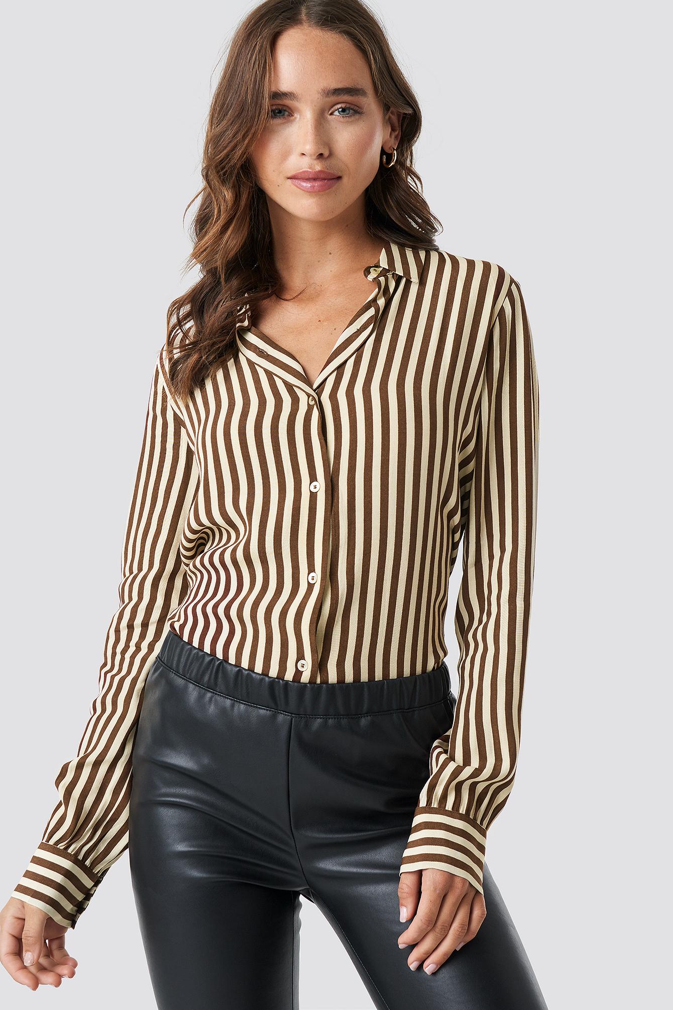 Brown Shirt NA-KD.COM