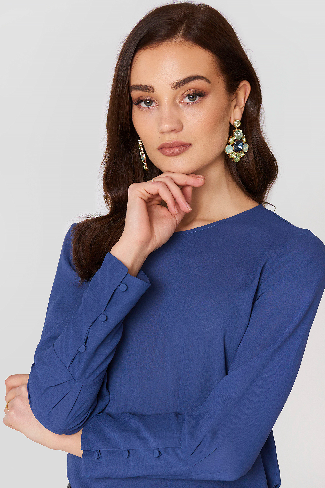 Buttoned Sleeves Blouse