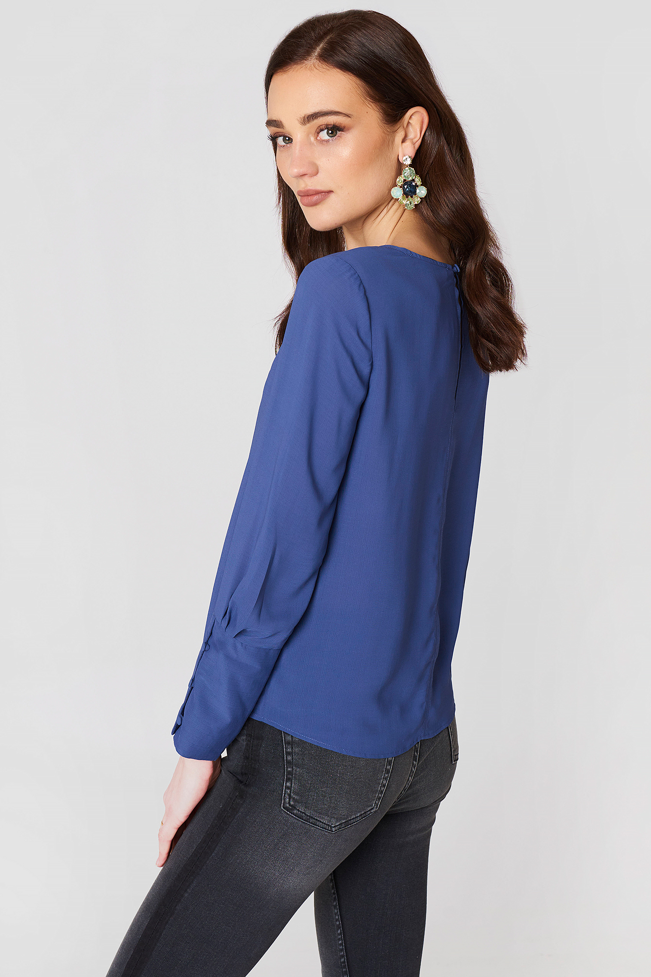 Buttoned Sleeves Blouse NA-KD.COM