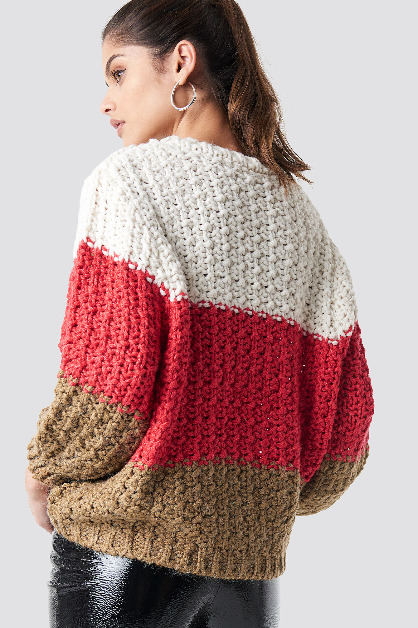 mango -  Cabin Sweater - Red,Multicolor