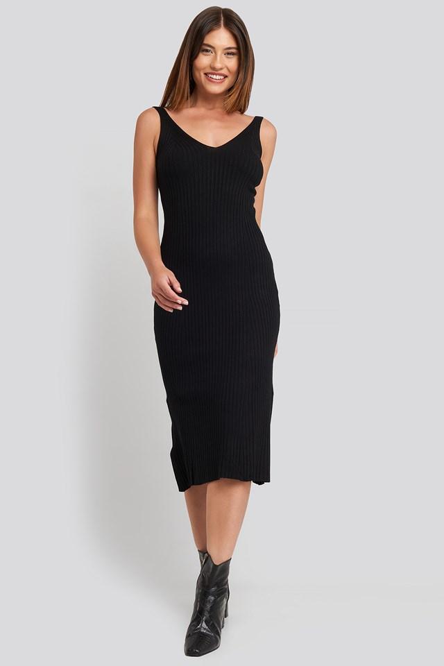 Canal Dress Black