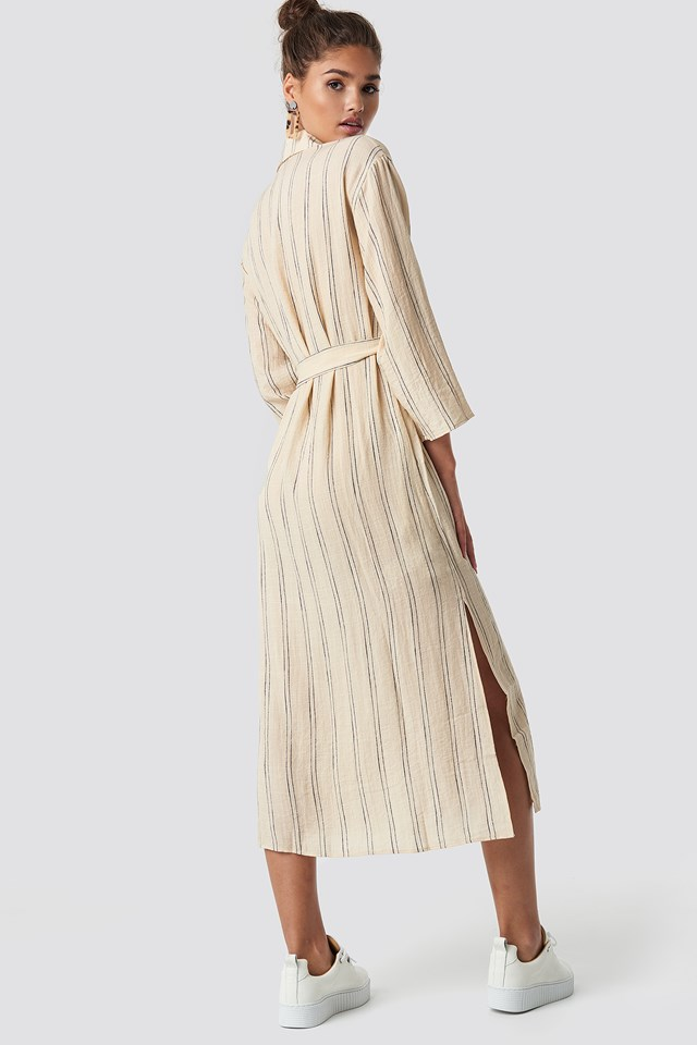 Candela Midi Dress Light Beige