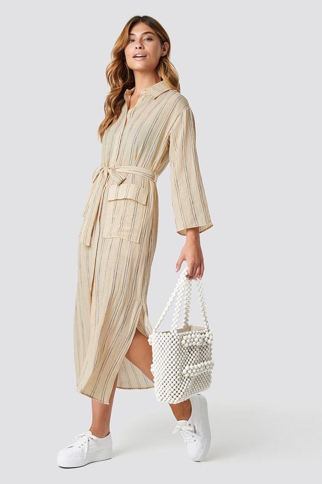 Candela Midi Dress Ecru