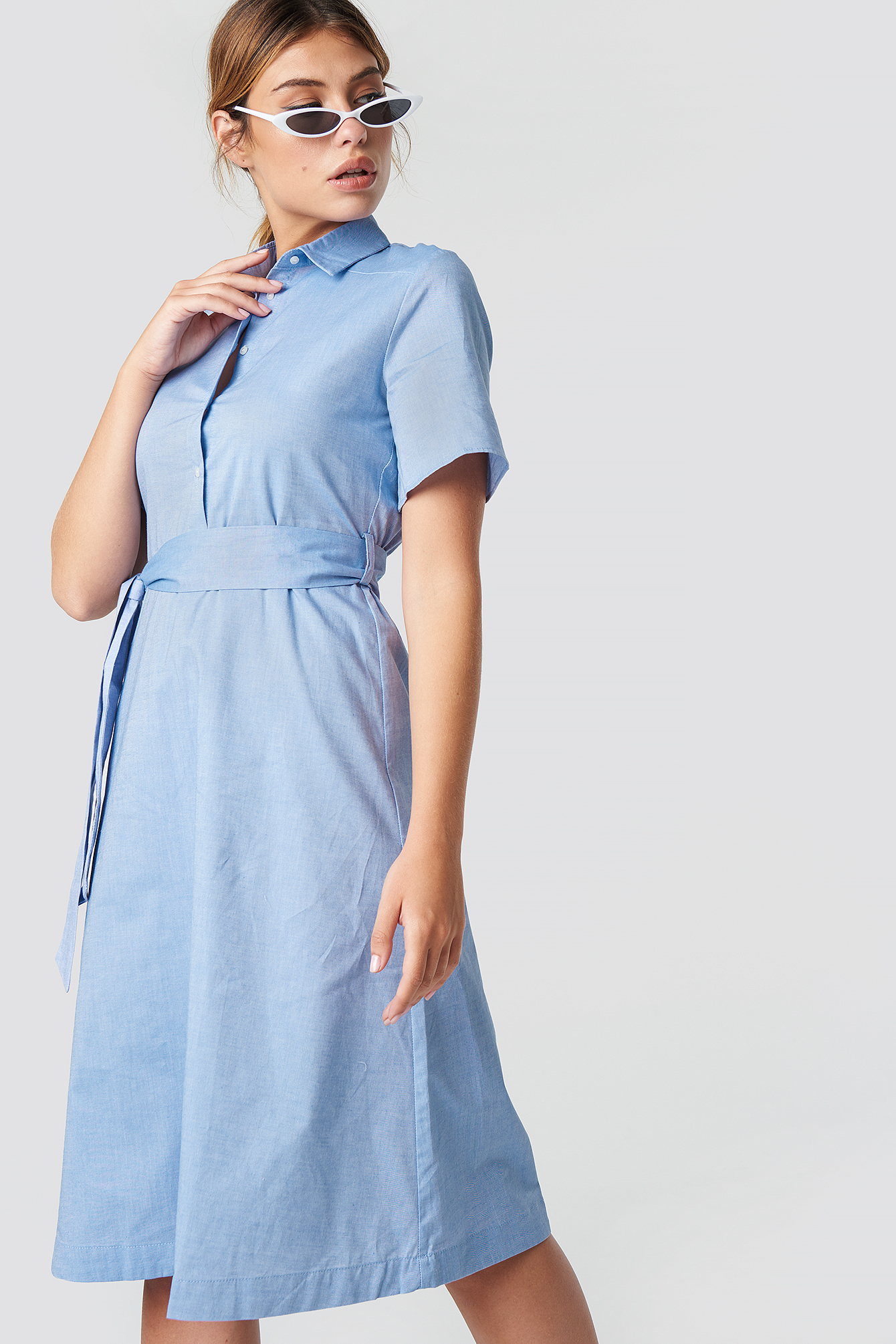 Sky Blue Carpas Dress