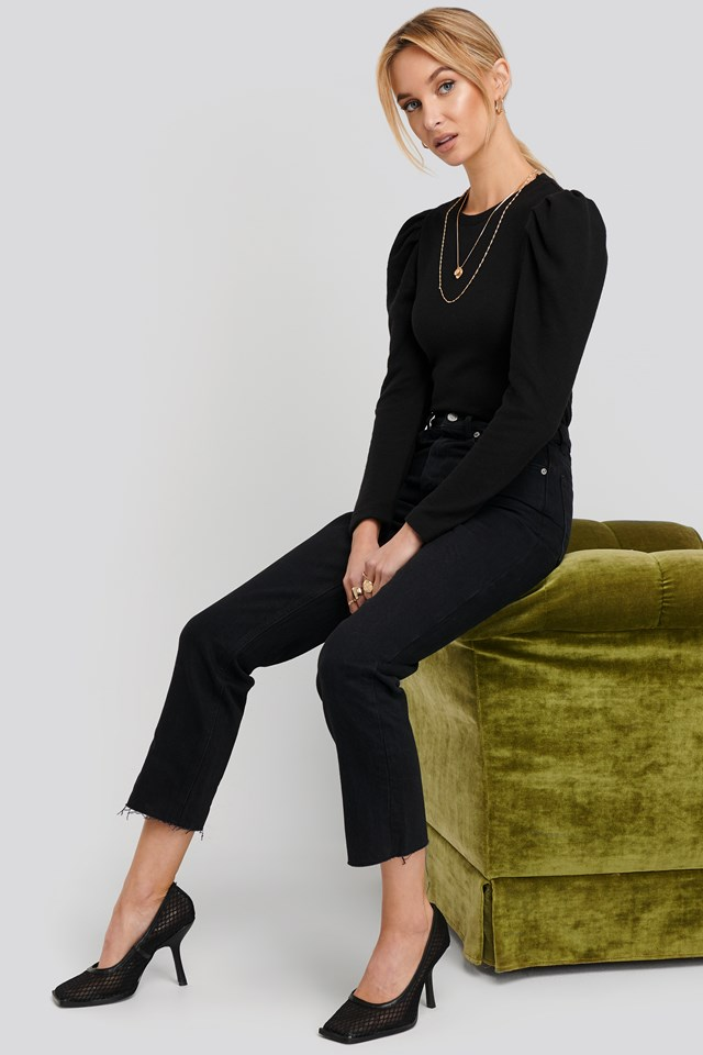 Celia Jeans Open Grey