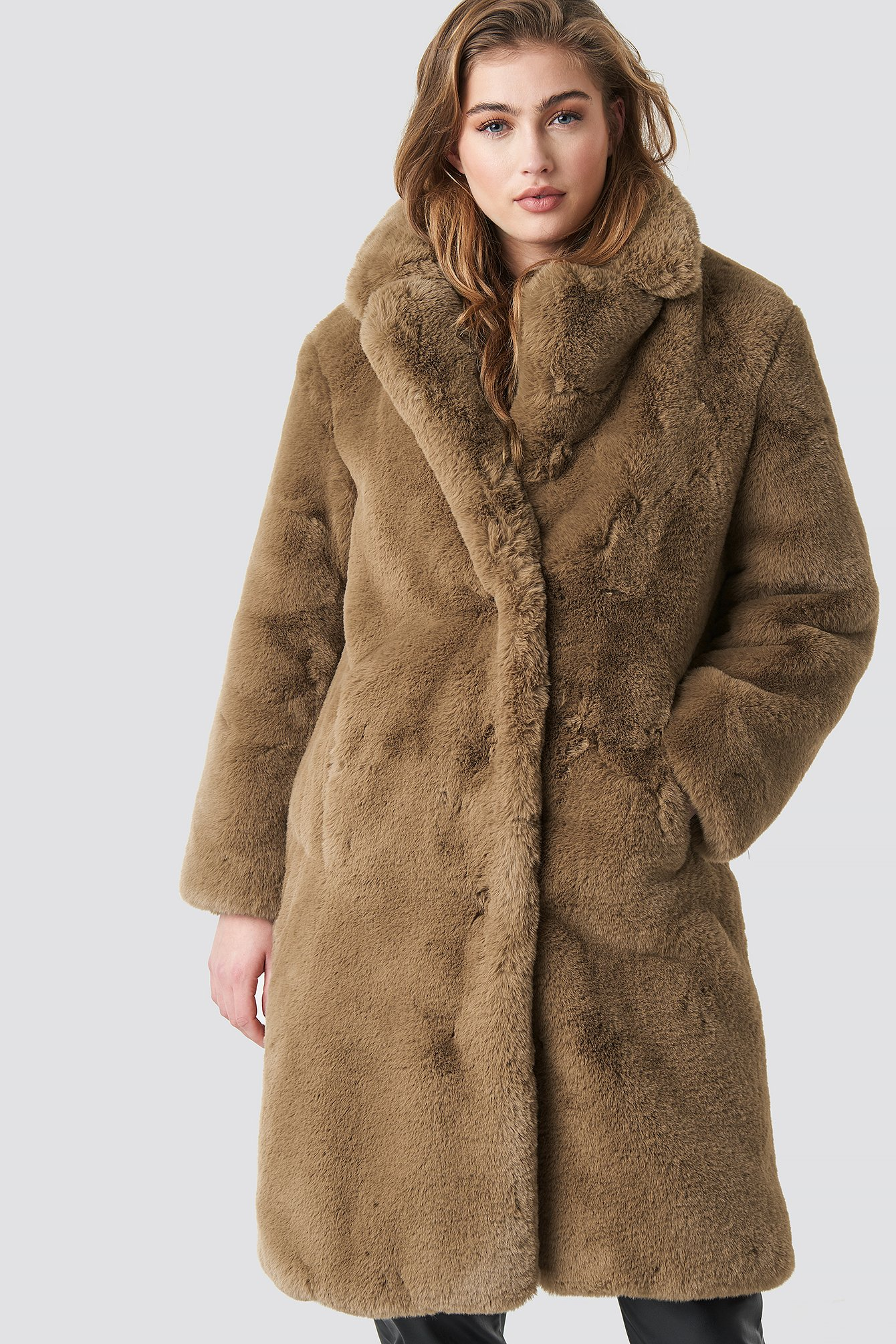 mango -  Chilly Coat - Brown,Beige