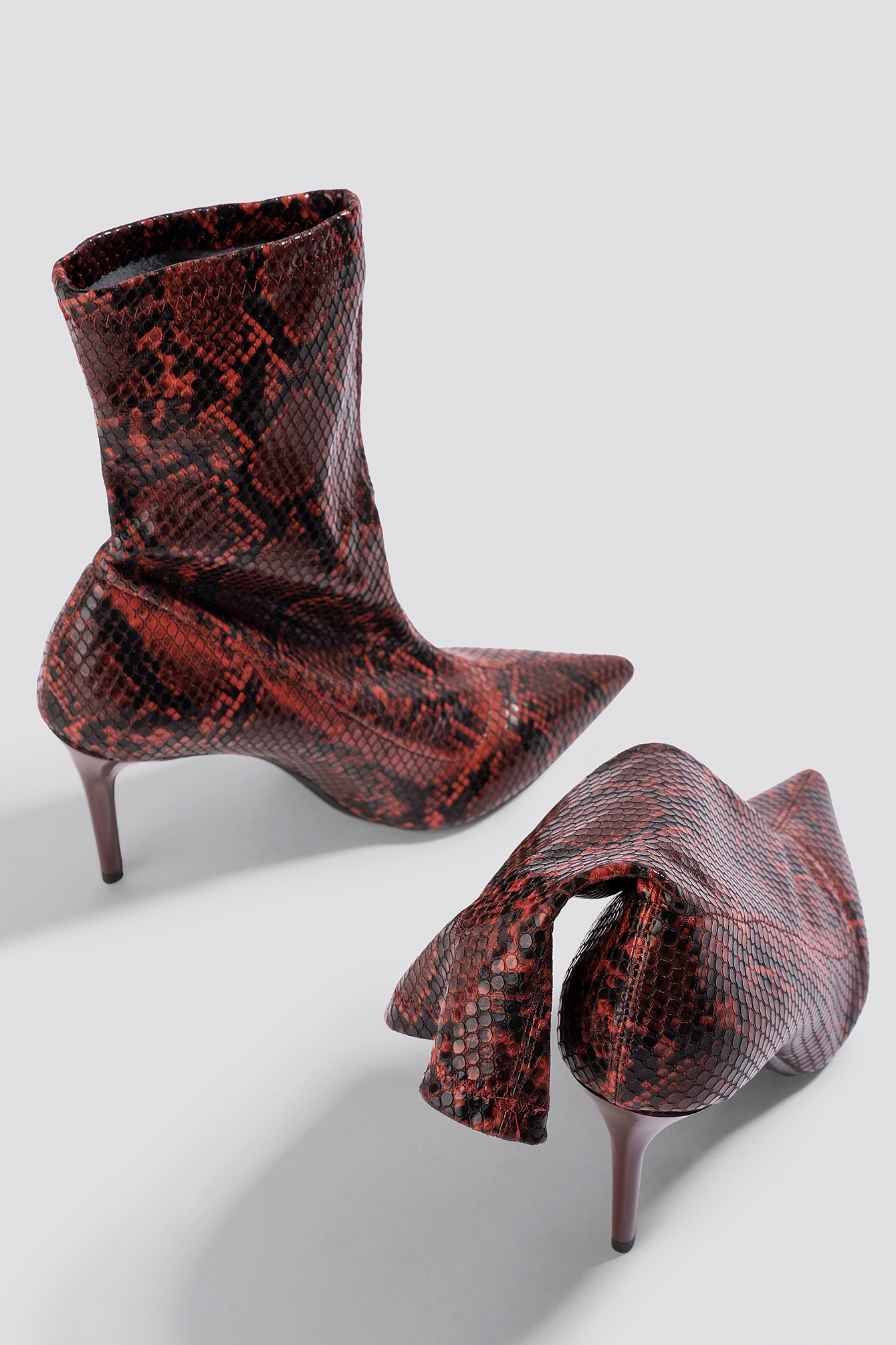 mango -  Cinda Ankle Boots - Red