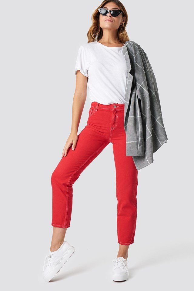Claudia Jeans Red