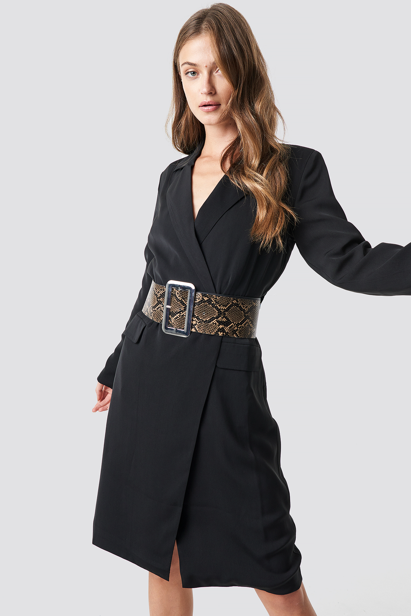 mango -  Cleo Belt - Black