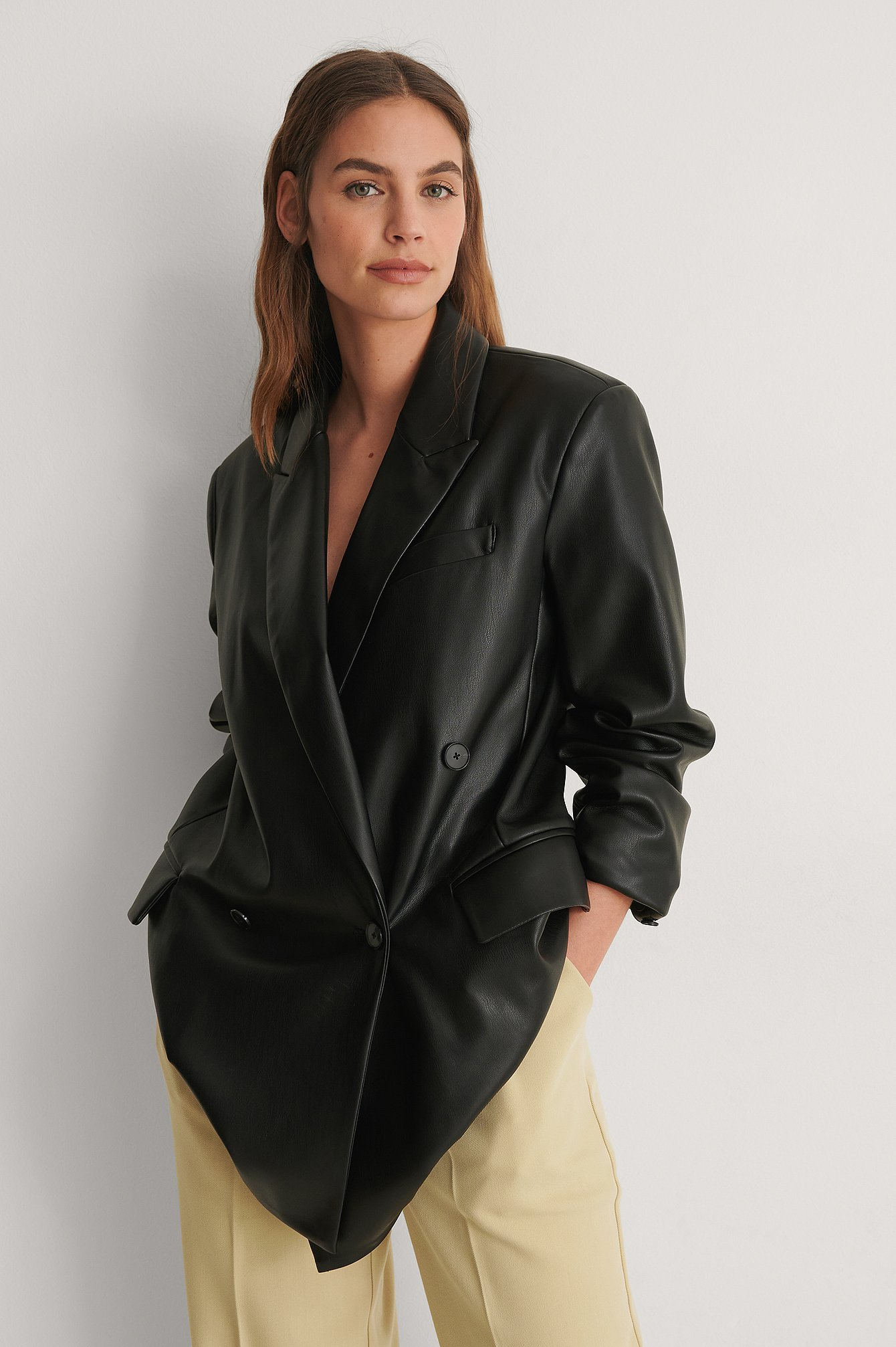 Black Combi Blazer Jacket
