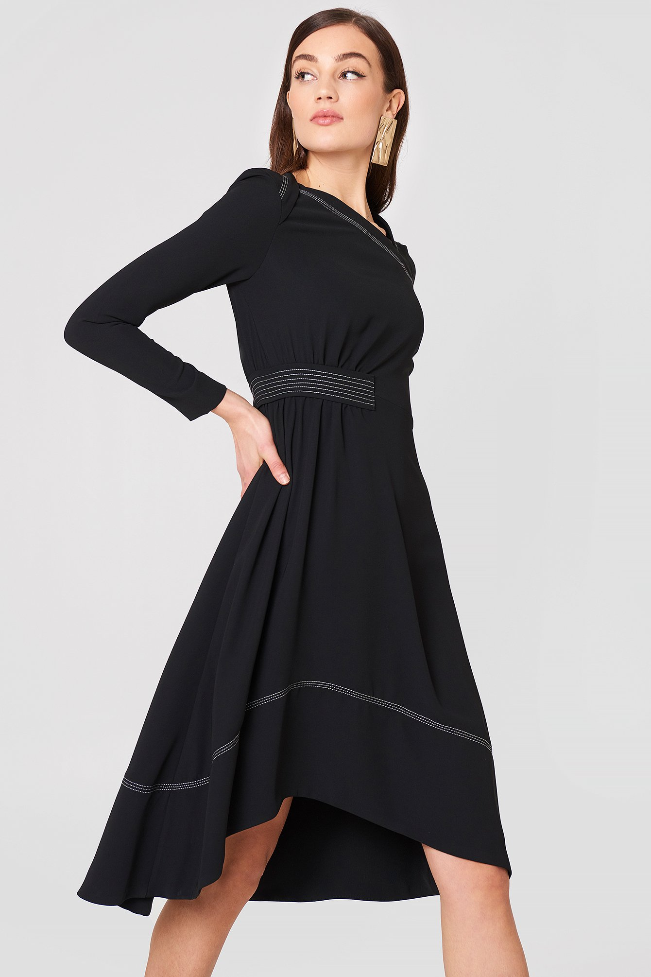 Contrast Seam Dress NA-KD.COM