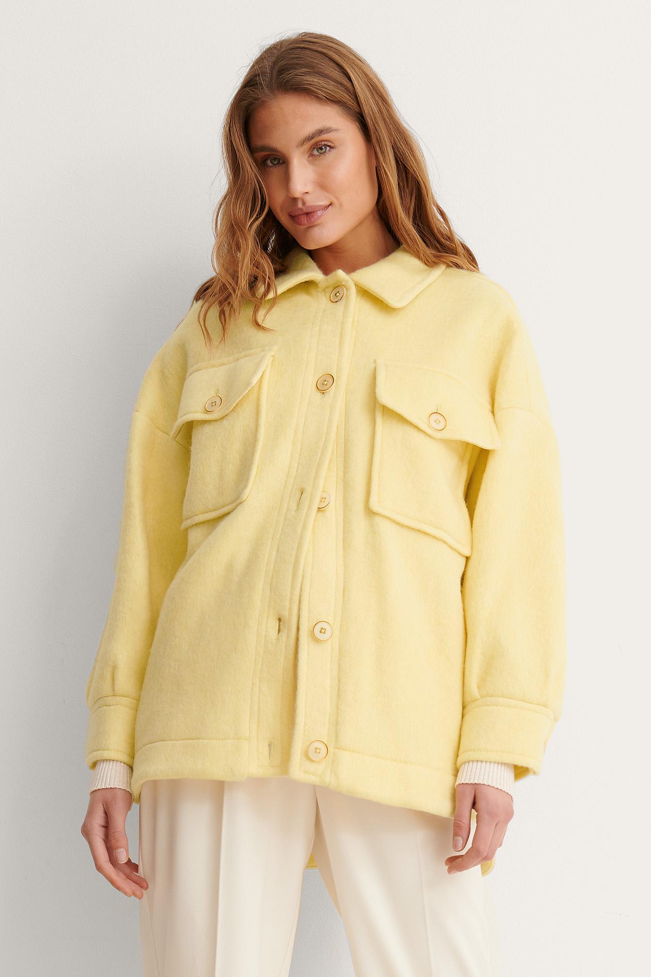 MANGO Jakke - Yellow