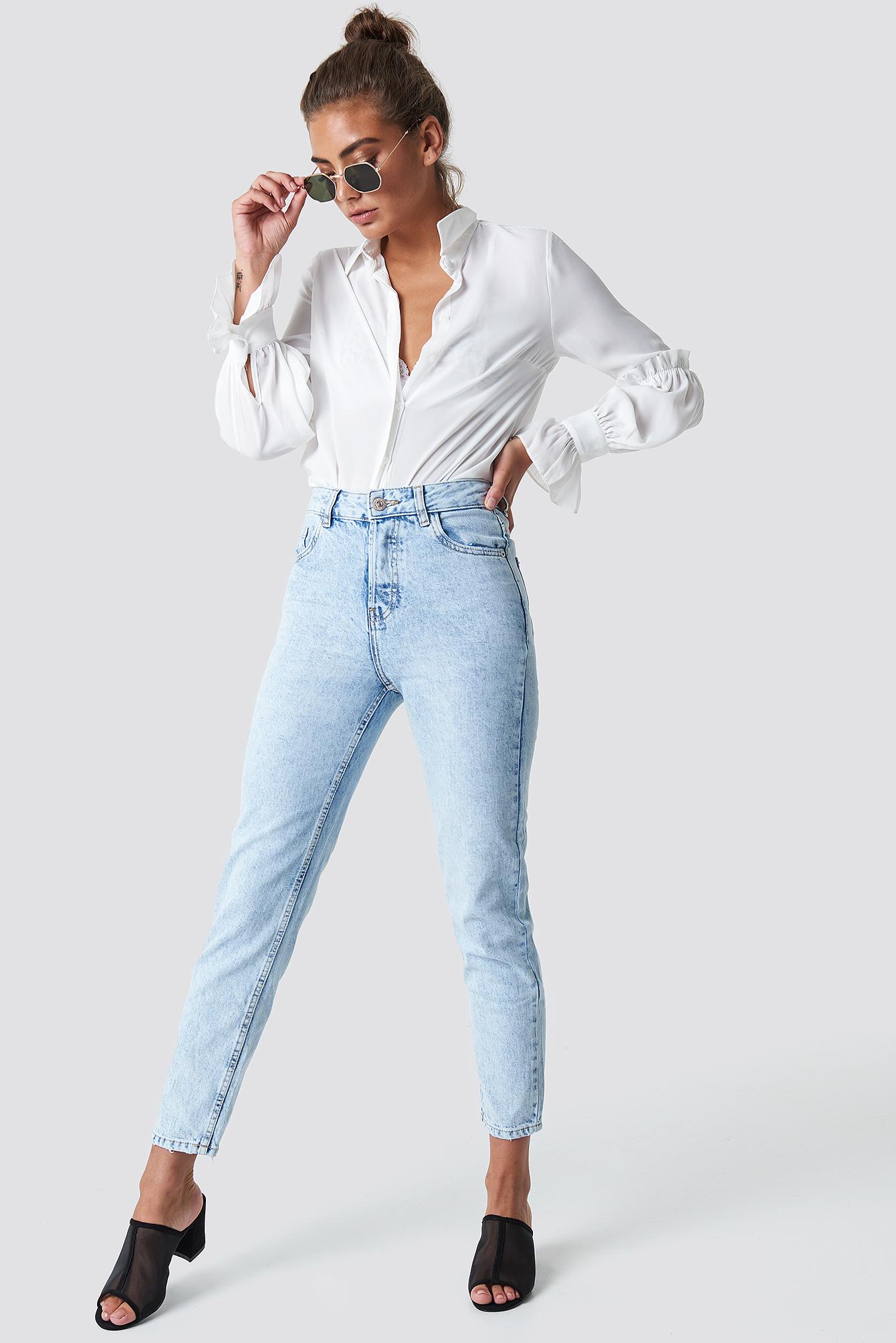 Cropped Mom Jeans NA-KD.COM