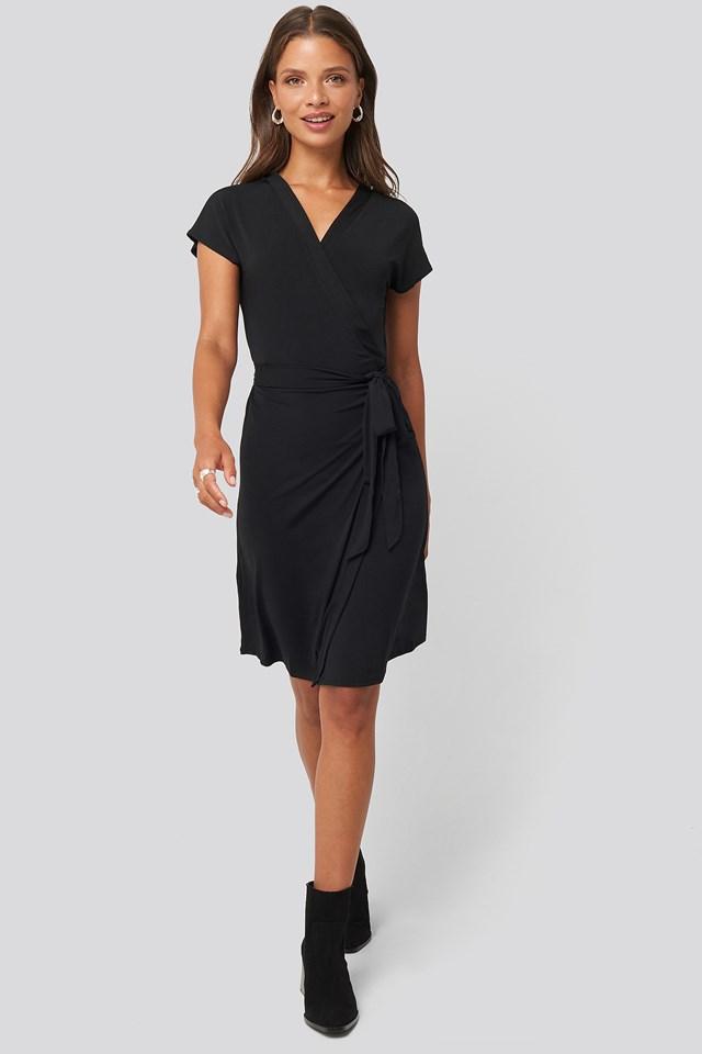 Crossep Dress Black