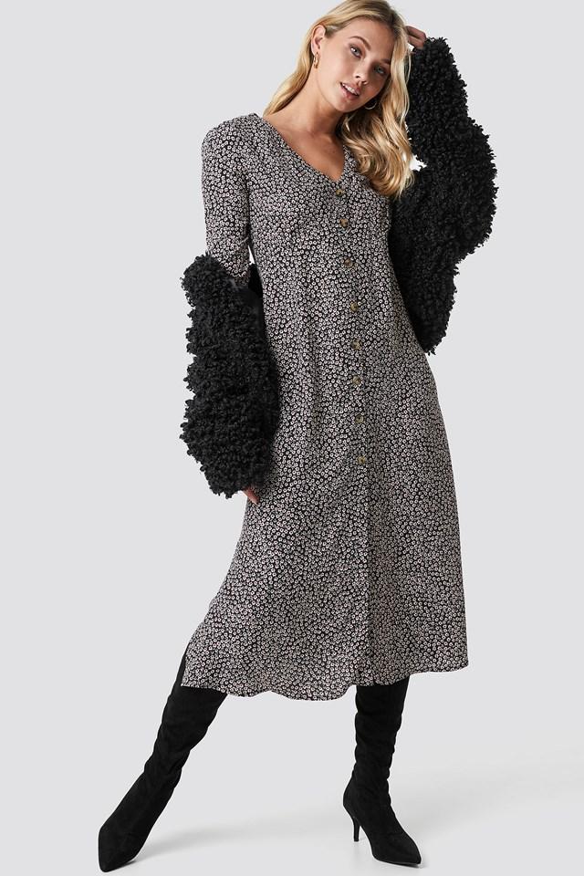 Daisy Midi Dress Black