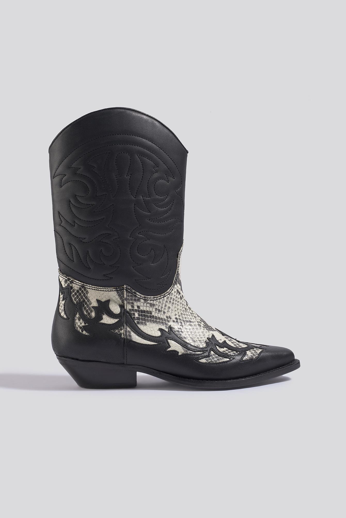 mango -  Dalton Ankle Boots - Black