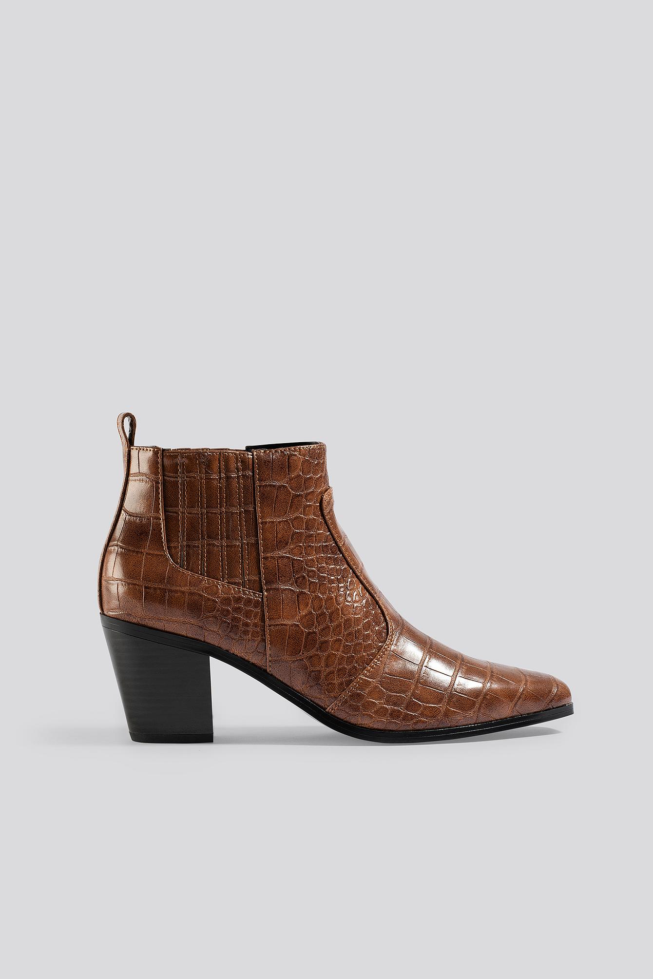 mango -  Dorado Ankle Boots - Brown
