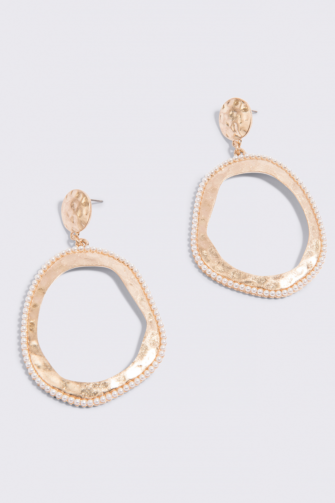 Embossed Hoop Earrings NA-KD.COM