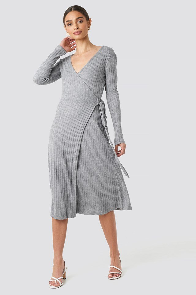 Fama Midi Dress Medium grey
