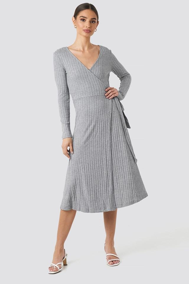 Fama Midi Dress Medium grey
