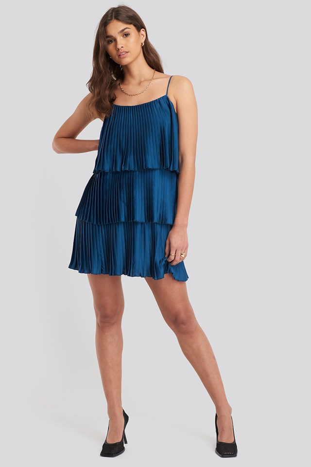 Fan Dress Medium Blue