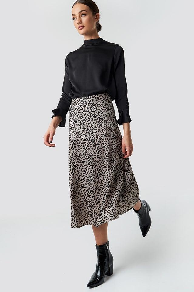 Fast Midi Skirt Black