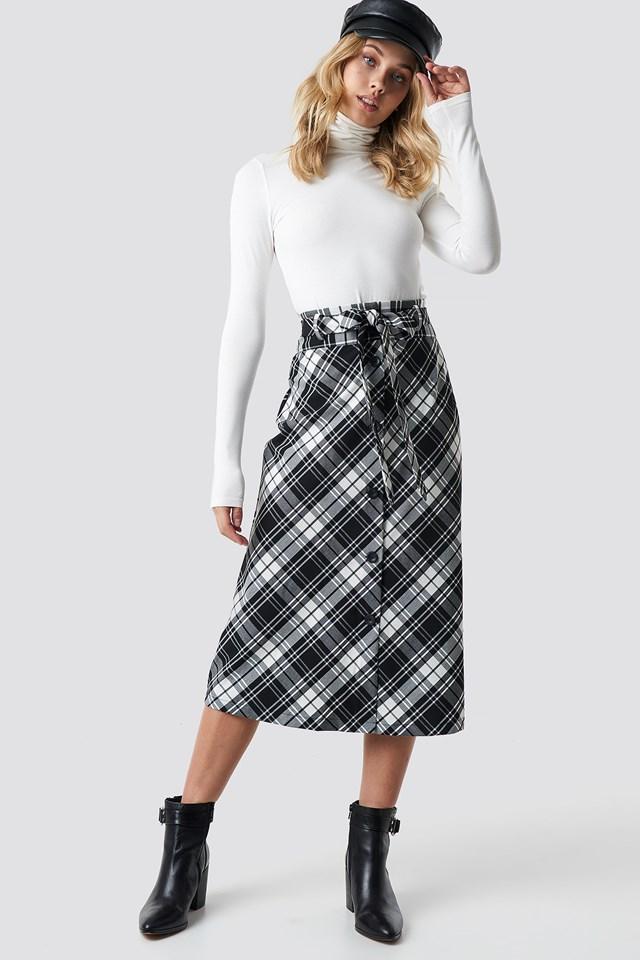 Flama Midi Skirt NA-KD.COM