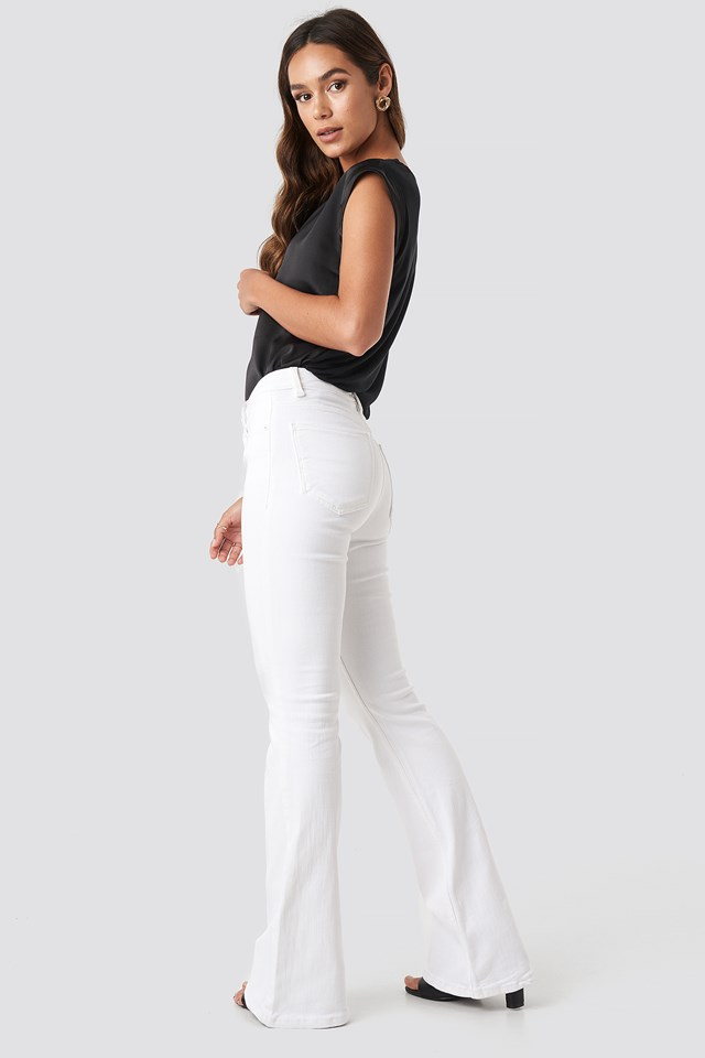 Flare Jeans White