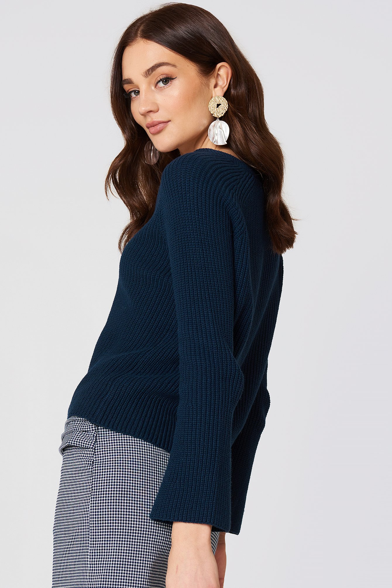 Flared Sleeve Ribbed Jumper NA-KD.COM