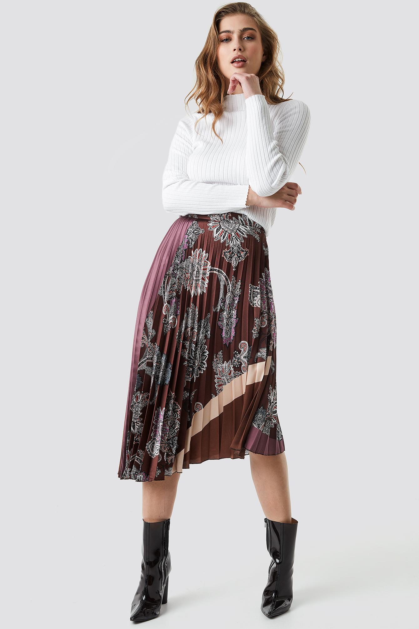 Flytres Midi Skirt NA-KD.COM