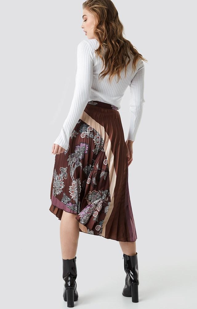 Flytres Midi Skirt Brown