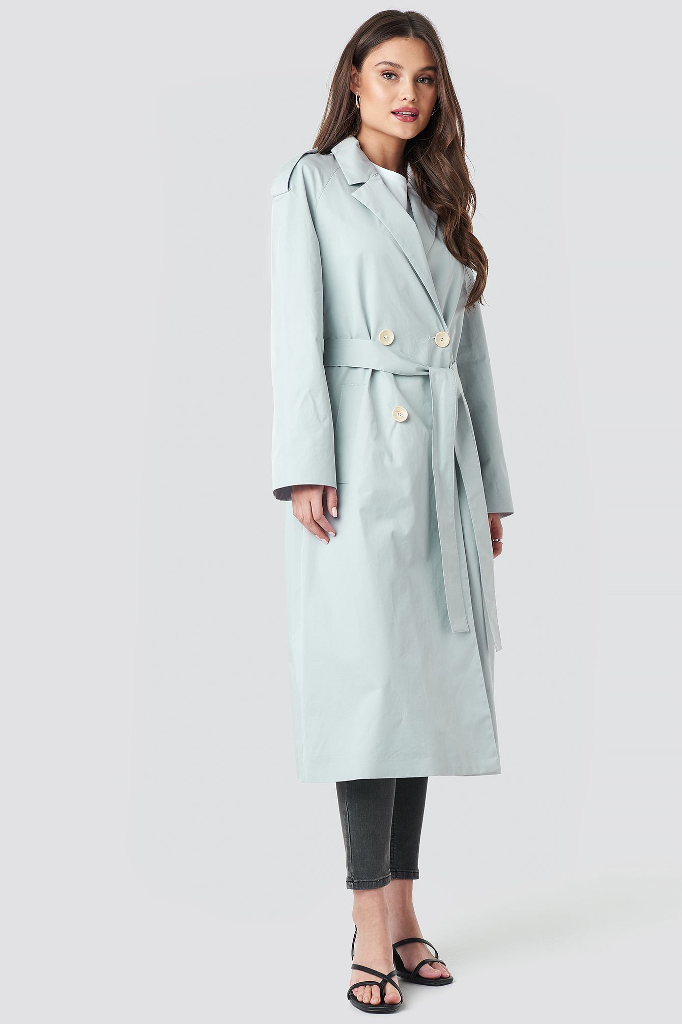 mango -  Forty Trench Coat - Blue