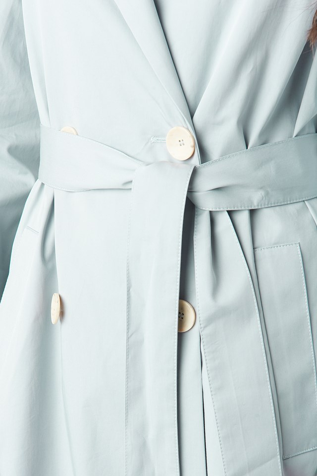 Forty Trench Coat Light Blue