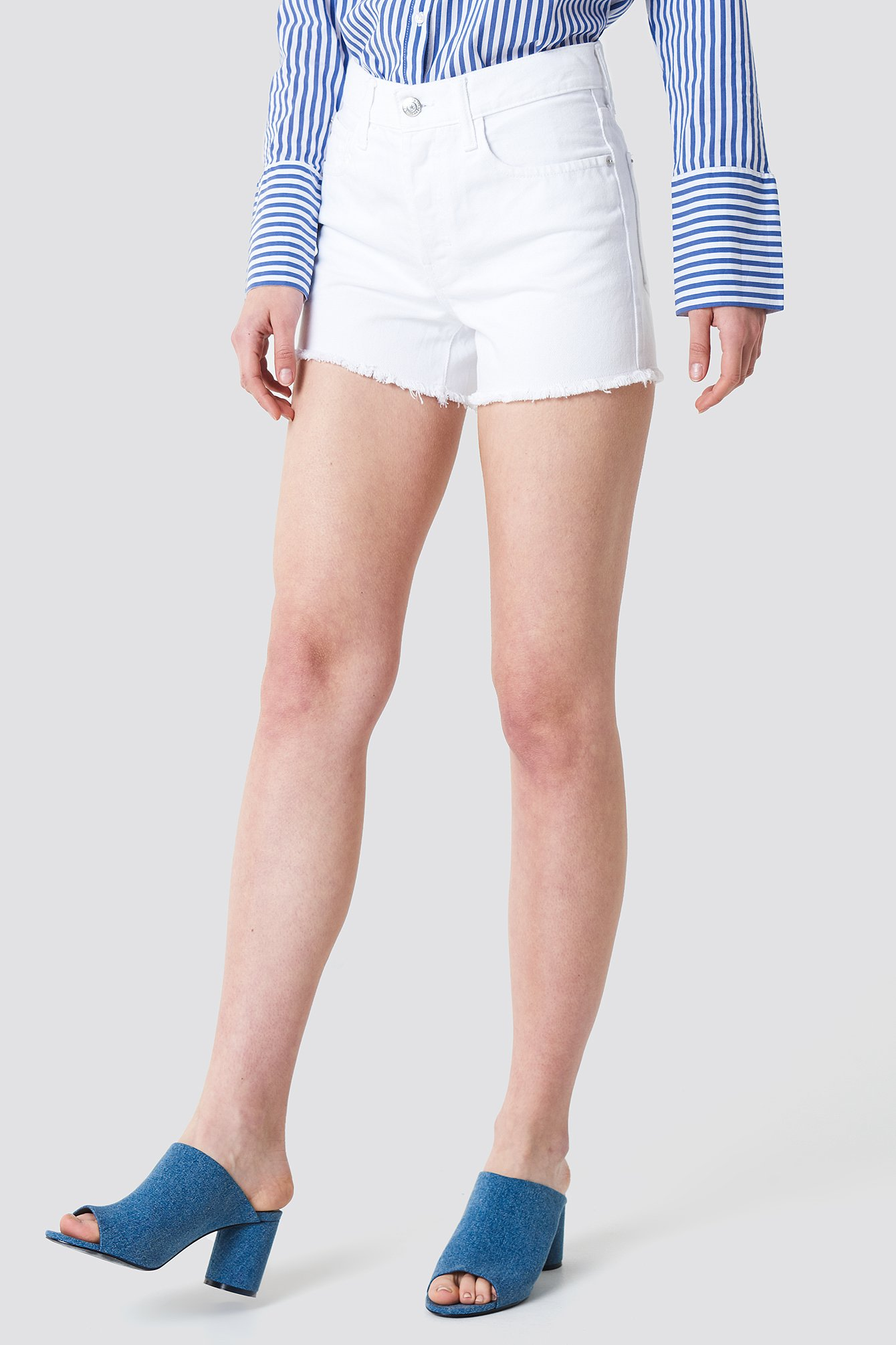 Frayed Denim Shorts NA-KD.COM