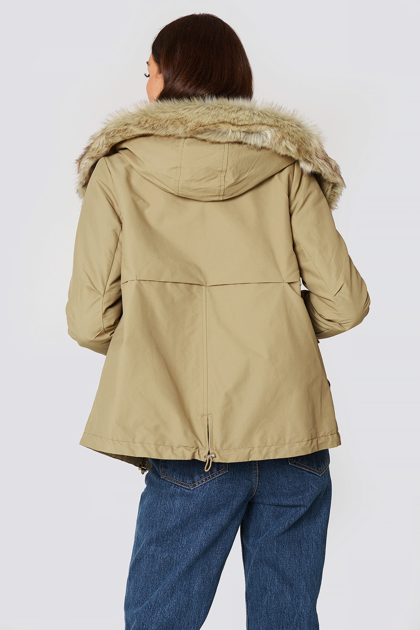 Furry Hooded Parka NA-KD.COM