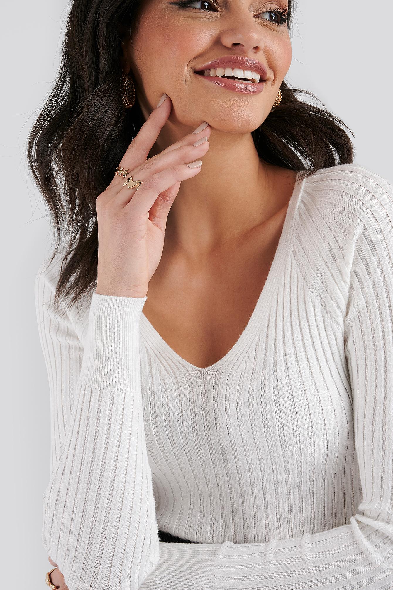 Goleta Sweater White by Mango