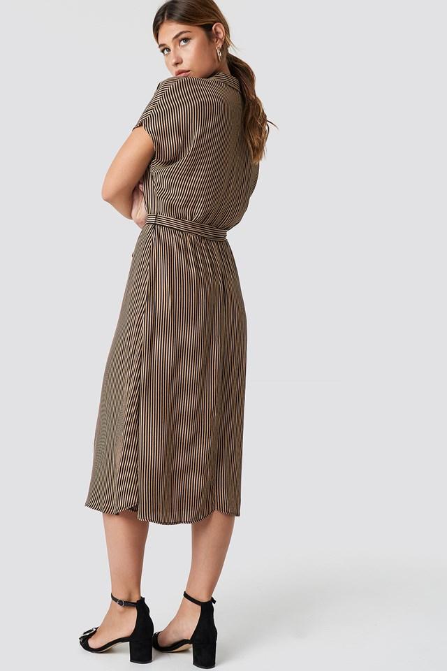 Harp Midi Dress Camel