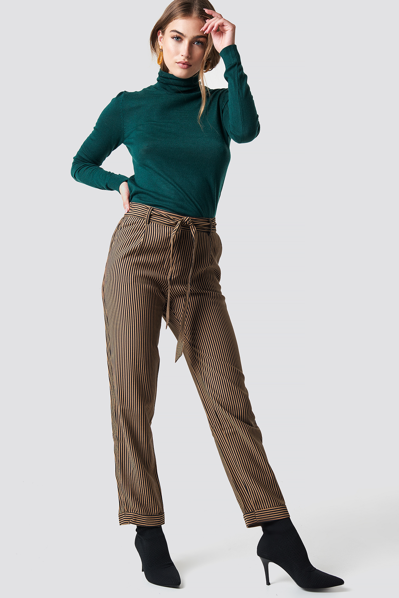 mango -  Harp Trousers - Brown