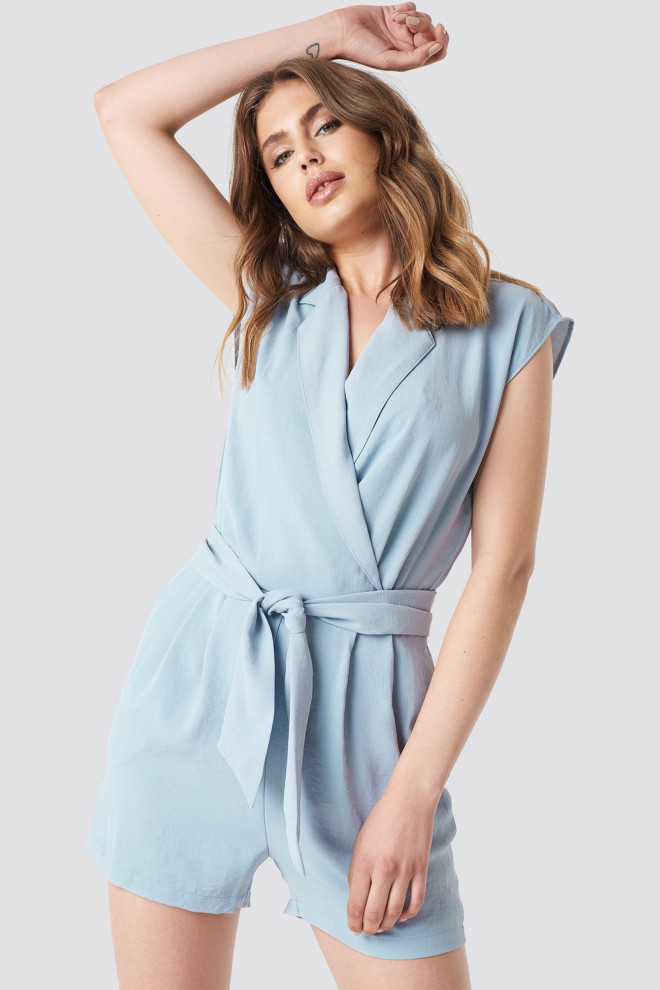 Super Hippo Playsuit Blue | na-kd.com ED-41