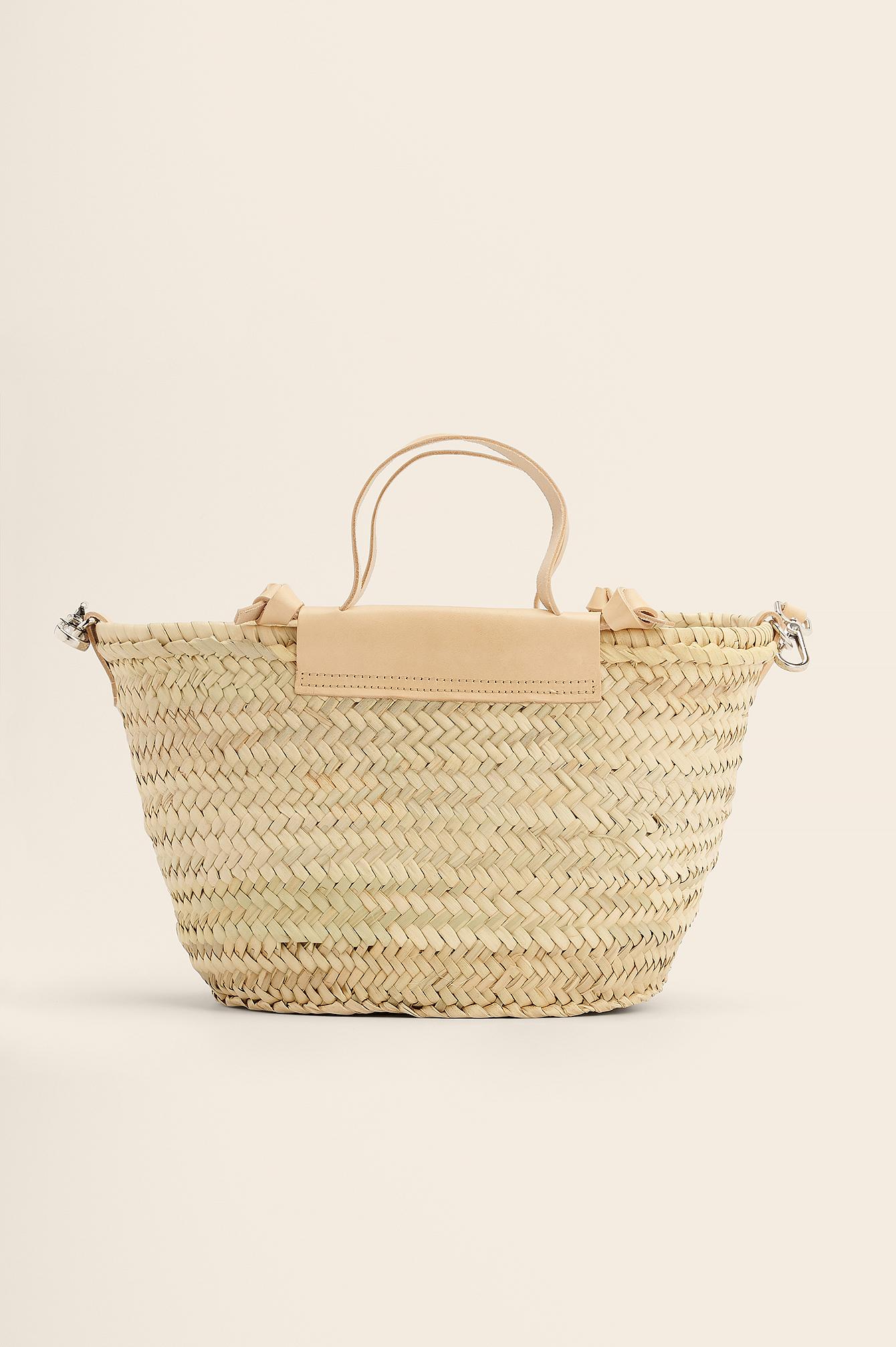 mango -  Strandtasche Aus Stroh - Beige