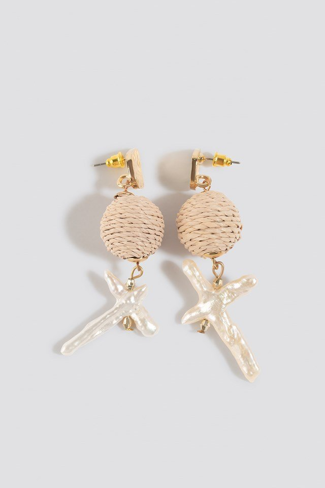 Icy Earrings Offwhite