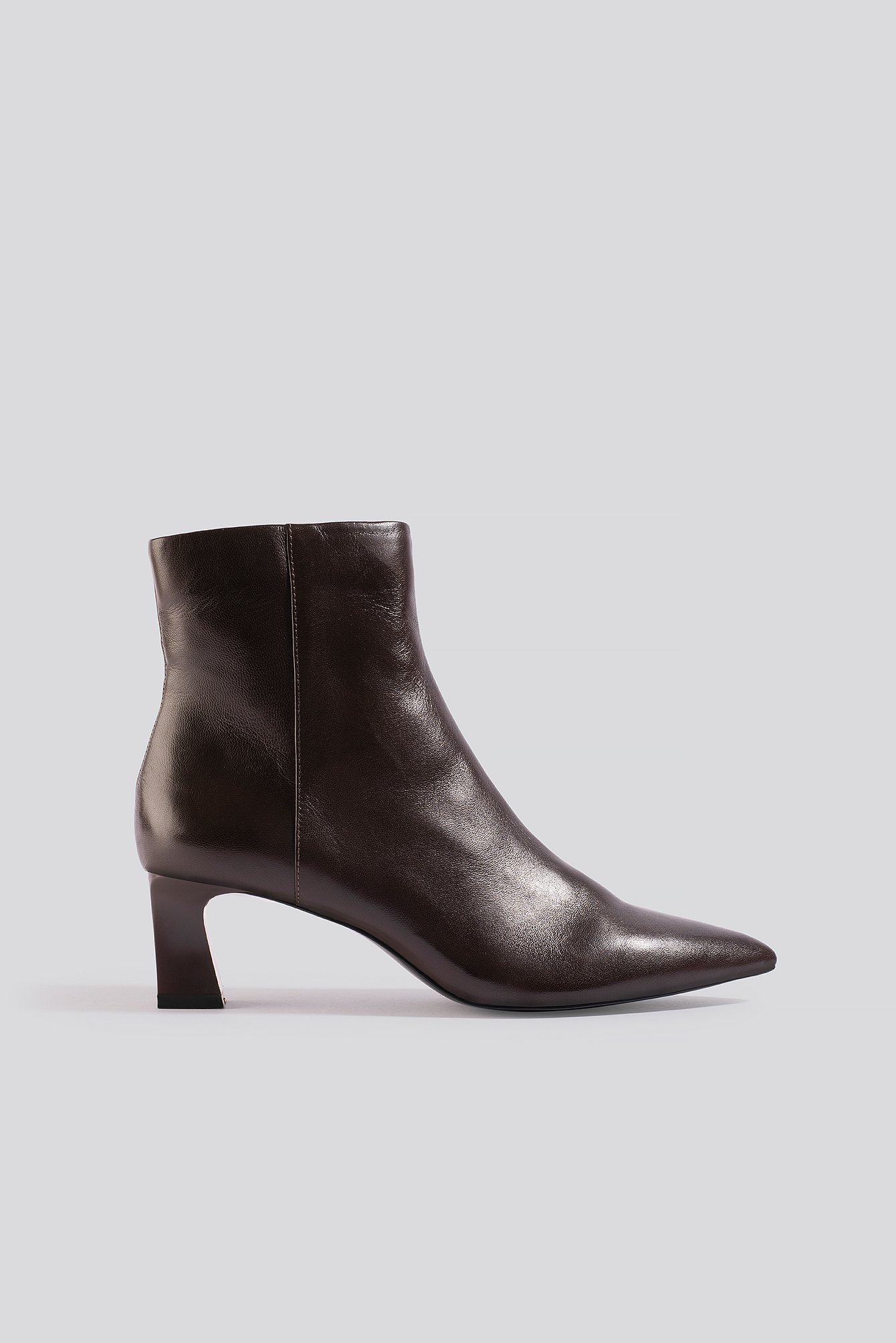 mango -  Inky Ankle Boots - Brown