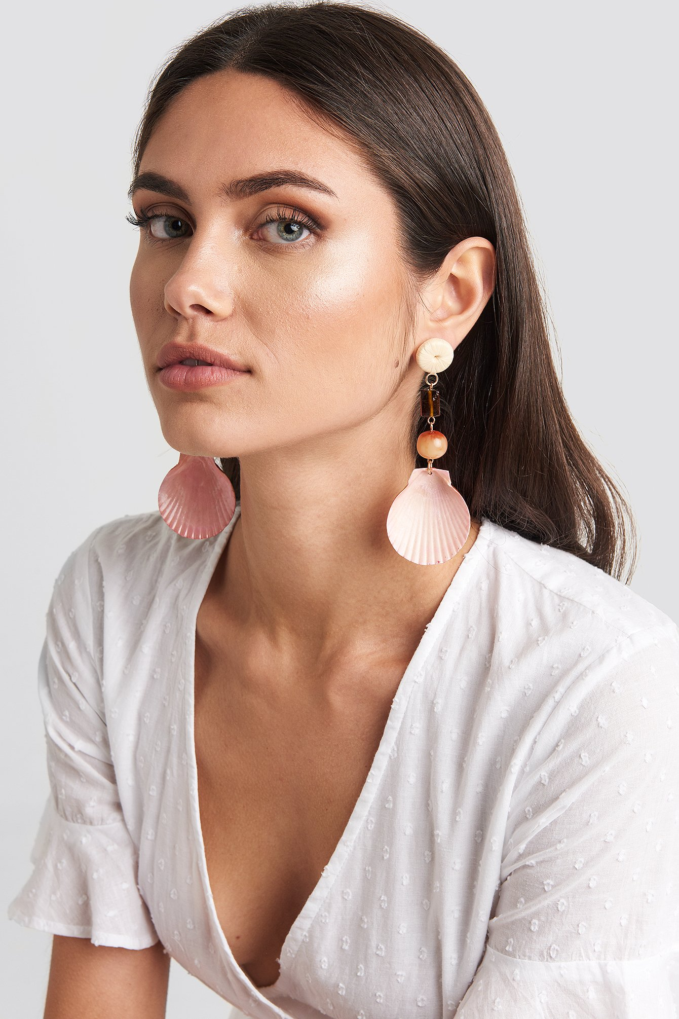 mango -  Iris Earrings - Pink,Orange
