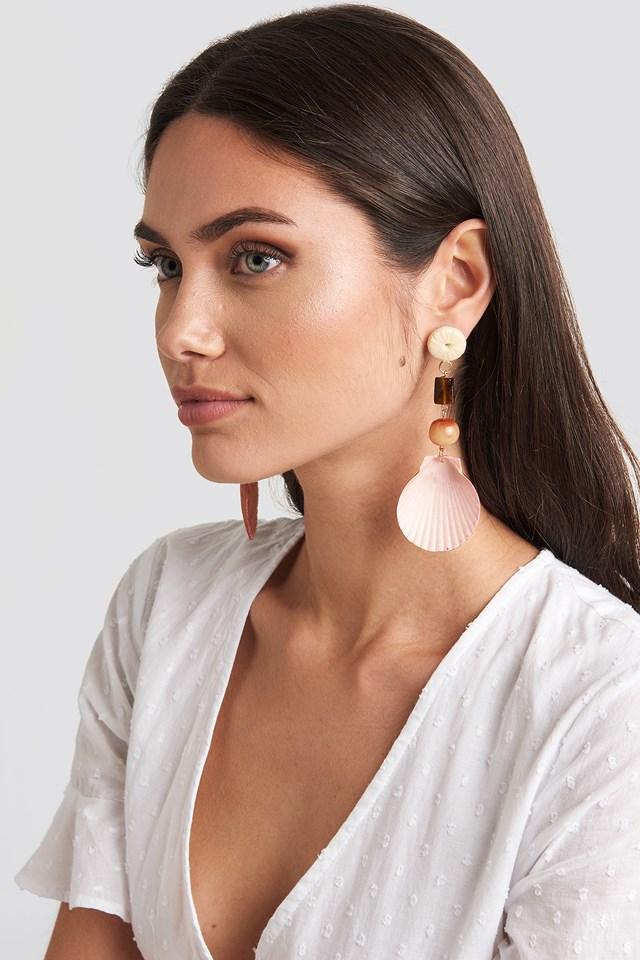 Iris Earrings Peach