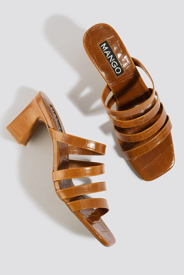 Iris Sandals Leather Brown