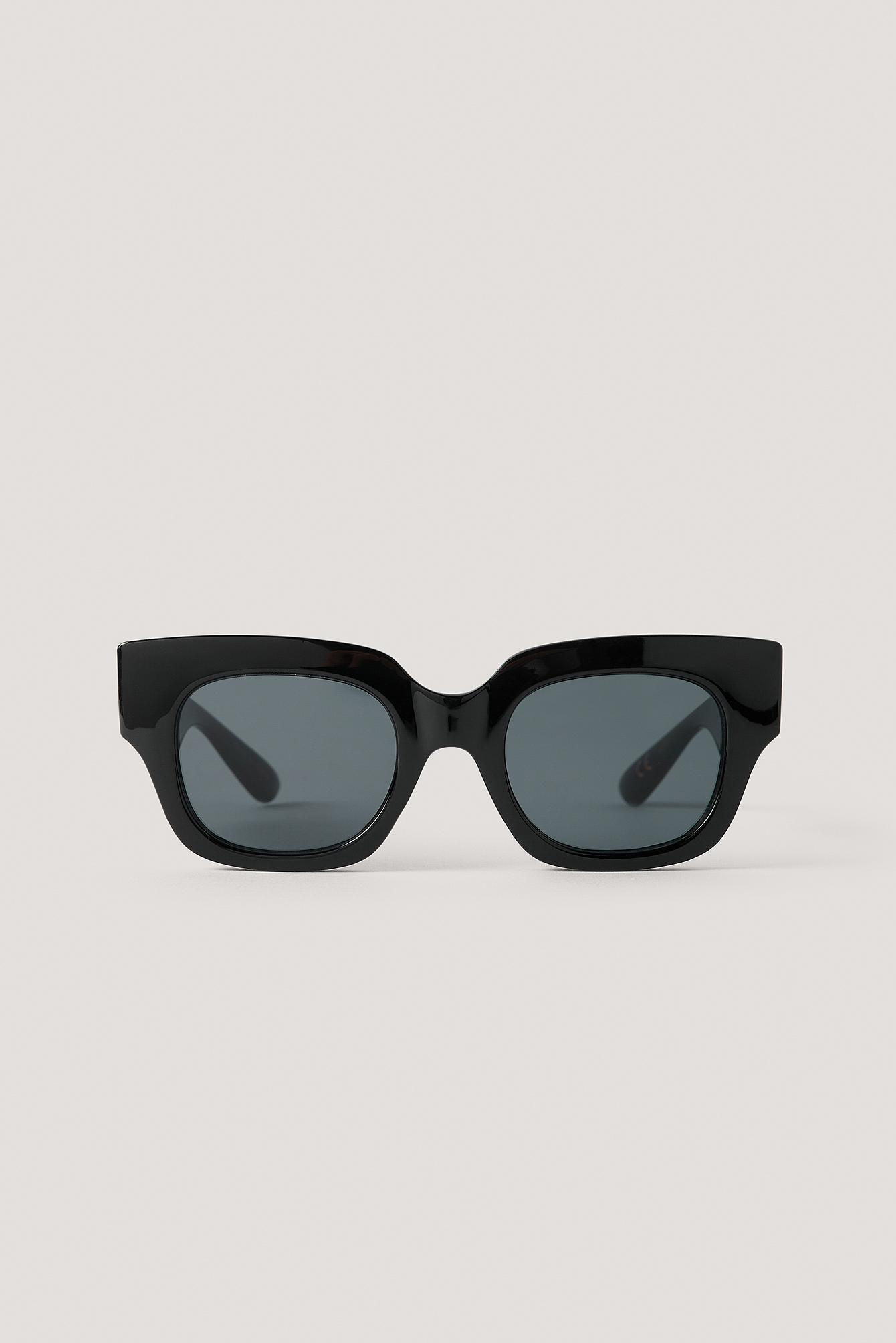 mango -  Sonnenbrille Mit Eckigem Rahmen - Black